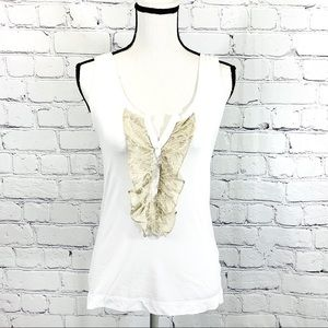 Theory Lace Detail Tank Top Sz. Large